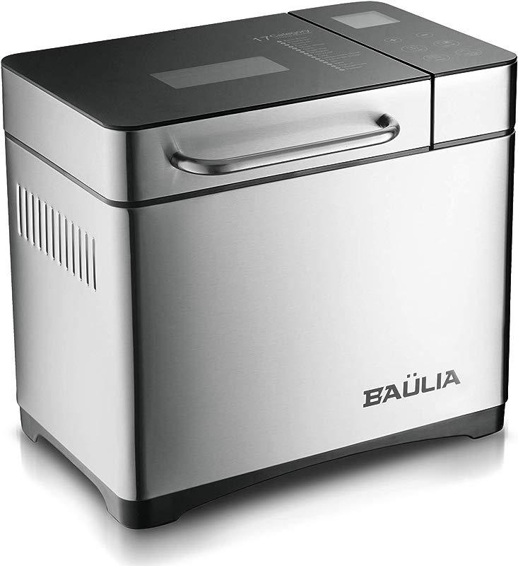 Baulia BM821 Custom Loaf Bread Maker Machine Gluten Sugar Free Functions 17 Programmable Bread Types Settings