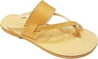Ancient Greek Style Genuine Leather Sandals Roman Handmade Women Strappy Shoes Gladiator Spartan FOLEGANDROS Summer Flat Heel Slide Slip-On Flip Flops Fashion