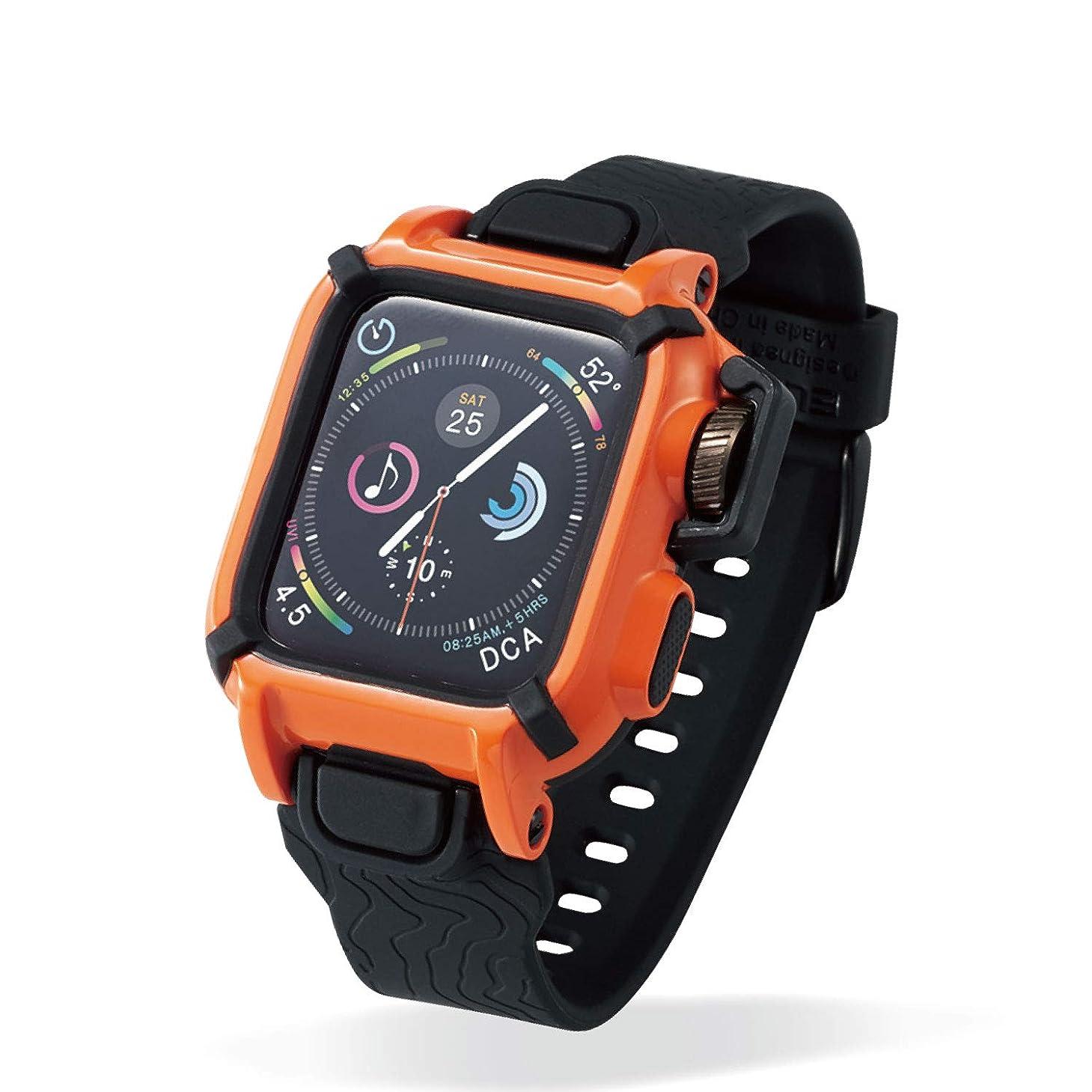 艦隊細胞スクワイアエレコム Apple Watch バンド ケース NESTOUT Series 5/4 [ 40mm ] オレンジ AW-40BCNESTDR