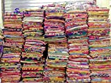 Mycrafts Indian Vintage Handmade Kantha Quilt, Bohemian Hippie Home Decor Kantha Bedding Quilt Saree Made Twin Gudri Ralli Dorm Decor Kantha Quilt Throw 10Pc Lot