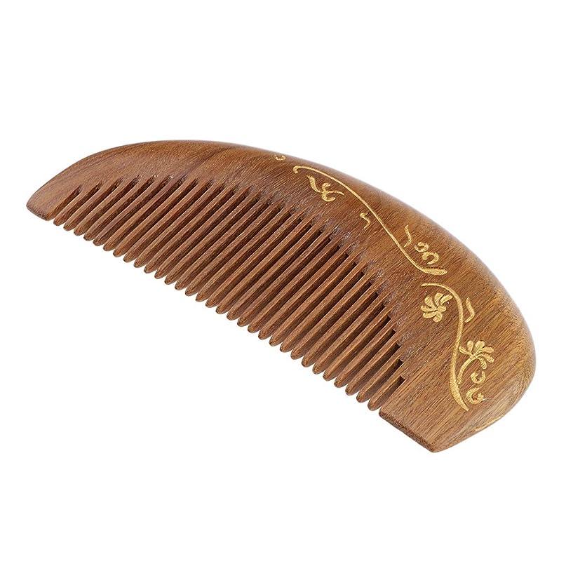 法令側面不調和P Prettyia 帯電防止櫛 ウッドヘアーコーム 頭皮マッサージ 櫛 レトロ 4仕様選べ - #2