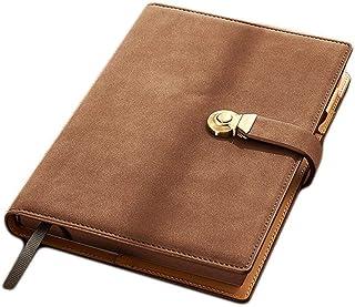 ورق كتابة A5 بكتابة دفتر ملاحظات مكتب مجلة ورقية 260 صفحة 5.8 بوصة × 8.7 بوصة (اللون: بني، المقاس: A5)