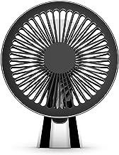 HUI JIN Ventilateur USB de bureau Petit moulin à vent rotatif 8-42° Mini ventilateur de bureau réglable 3 vitesses
