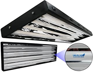Yield Lab 54w T5 Four Bulb Fluorescent Grow Light Panel (6400K) – Hydroponic, Aeroponic, Horticulture Growing Equipment