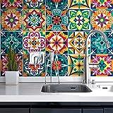 72 (Piezas) Adhesivo para Azulejos 10x10 cm - PS00187 - Santa Clara - Adhesivo Decorativo para...