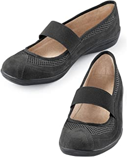 Collections Etc Slip-On Microsuede Mary Jane Shoes