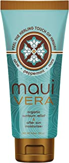 Maui Vera Organic Sunburn Relief & After Sun Moisturizer, 6.5 ounce
