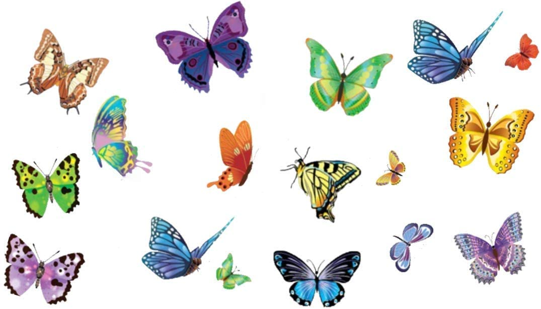 Flock of Butterflies Sticker Wall Decal Art Home Deco Vynil Children Room Living Room Bedroom Front desk Bar decor