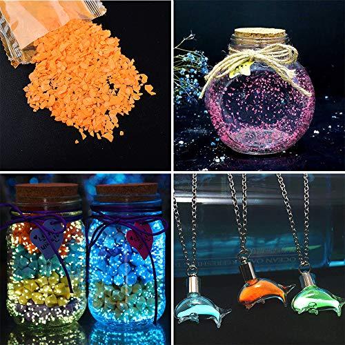 Gudotra 60g Sabbia Luminosa Fluorescente Decorativa per Decorazione Regalo Fai da Te Acquario Casa Feste Arti Forniture (Oro)