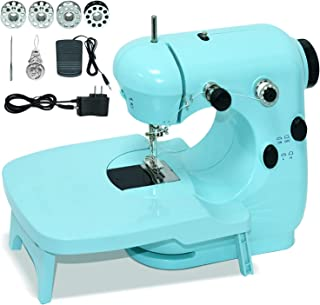 Sewing Machines, Portable Sewing Machine with Extension Table, Easy Sewing Machine with Dual Speed and Double Thread for B...