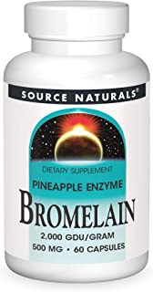 Source Naturals Bromelain 500 mg Pineapple Enzyme Caps, 60 ct