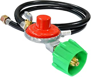 Stanbroil 48 Inch 10 PSI High Pressure Propane Adjustable Regulator Valve Hose Assembly - QCC1 x 3/8