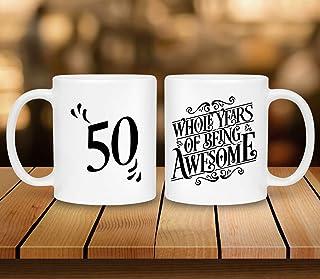 Happy 50th Mug- The perfect 50th birthday gift