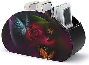 Organisateur de télécommande - Boîte de rangement pour support de télécommande TV avec 5 compartiments - Stockage et organ...