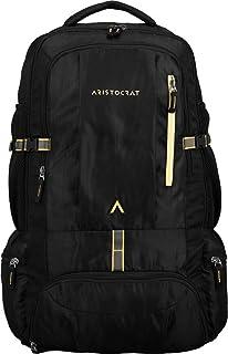 Aristocrat Hike Polyester 45L Hiking Rucksack Backpack | Travel Bags (Black)