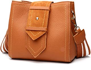 Fashion New Trend Casual Fashion Bills Shoulder Slung Small Leather Handbag (Color : Brown)