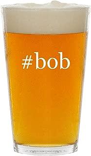 #bob - Glass Hashtag 16oz Beer Pint