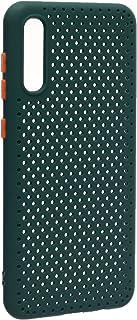 جراب خلفي سيليكون مخرم لسامسونج جلاكسي ايه 50 - اخضر برتقالي