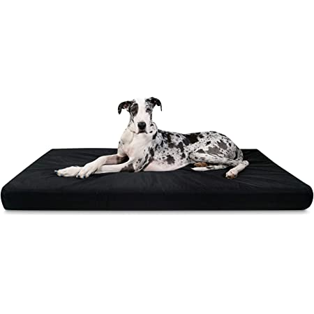 """K9 Ballistics Tough Orthopedic Dog Bed XX-Large Nearly Indestructible & Chew Proof, Washable Ortho Pillow for Chewing Puppy - for XX-Large Dogs 68""""x40"""", Black"""