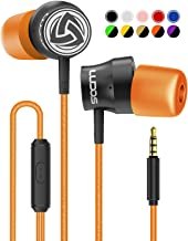 Wired-Earbuds-Earphones-Headphones-Microphone, LUDOS Turbo Ergonomic Earphone with Mic, Memory Foam, Durable Cable, Bass, Auriculares in-Ear Headphones for iPhone, iPad, Apple, Computer, Laptop, PC