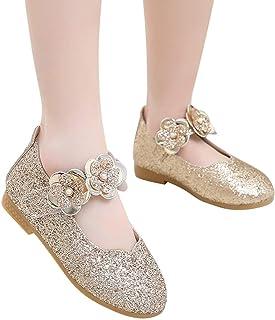 SiQing - Sandalias de Princesa con Lentejuelas Brillantes para niñas pequeñas y bebés, Zapatos Casuales de Baile