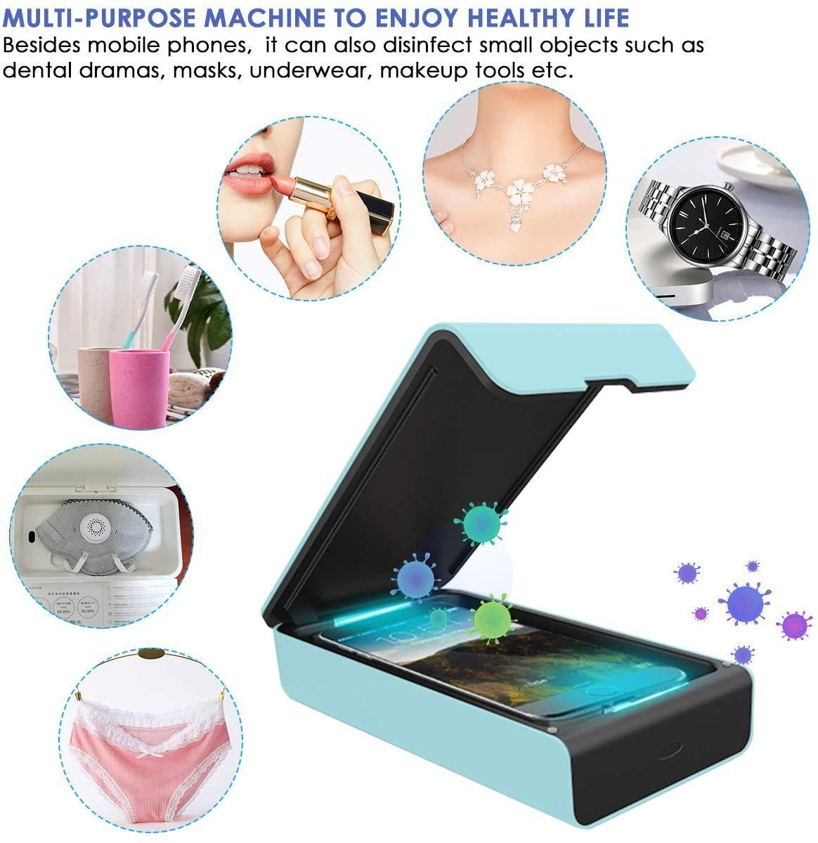 Automatische Desinfektion Dual UV Handy Sterilisator Box,Multifunktional UV-Desinfektions Boxhandschuhe,Babyflaschen und Gl/äser
