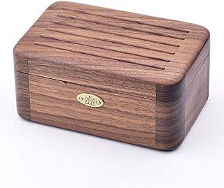 SOFTALK Vintage Square Wood Jewelry Box - Music Box Trinket Box Organizer Jewelry Decorative Box Keepsake Gift Box Case fo...