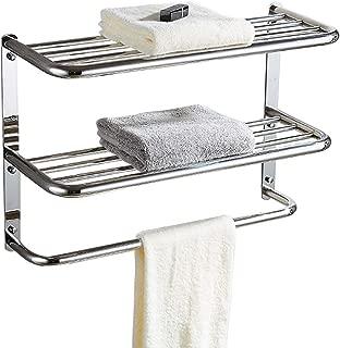 30 Inch Bathroom Shelf 3-Tier Wall Mounting Rack with Towel Bars, Extra Long