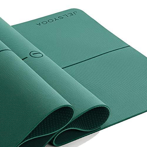 JELS TPE Yogamatte Rutschfeste umweltfreundliche Phthalatenfrei SGS geprüft Trainingsmatten 183*66CM*6MM...