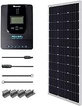 Renogy 100 Watt 12 Volt Monocrystalline Solar Starter Kit with 40A Rover MPPT Charge Controller