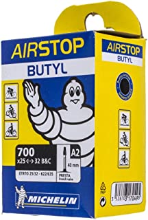 Michelin A1 Airstop PRESTA Valve 700 x 25-32c 40mm Bike Tube - TWO (2) PACK