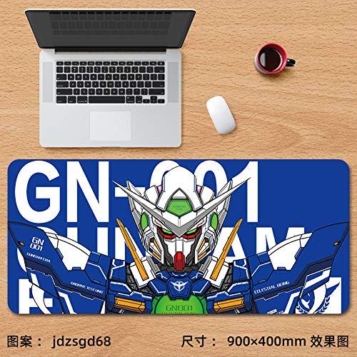 Alfombrilla de ratón para Juegos,Alfombrilla de ratón Super Anime Gundam Gaming Gaming Keyboard Pad Mobile Suit Table Pad-jdzsgd68_900x400 mm_3 mm