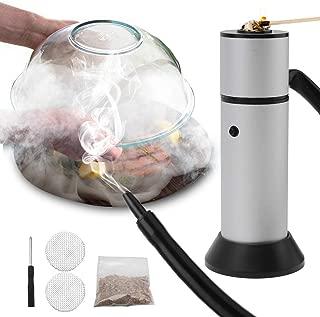 FrideMok Set de Ahumado con Pipa de Humo,Smoking Gun Portátil Cocina Molecular con Chips de Madera para Comida, Carnes, quesos, Bebidas - Plata