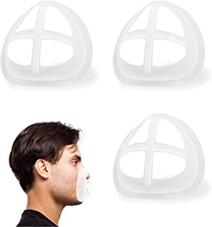 3D Bracket for Comfortable Mask Wearing | Silicone Mask Inner Support Frame | Keep Fabric off Mouth to Create More Breathing Space | Reusable Washable Translucent Pack of 3