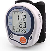 """LotFancy Blood Pressure Monitor Cuff Wrist, Digital Blood Pressure Monitor (5""""-8""""), 60 Reading Memory, Digital Sphygmomanometer for Irregular Heartbeat Detection, Portable Case Included"""