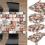 ANRO Wachstuch Tischdecke abwaschbar Wachstuchtischdecke Wachstischdecke BBQ Grill Garten Rot Oval 200x140cm - 6