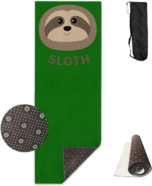 Sloth Yoga Mat Towel for Bikram Hot Yoga, Yoga and Pilates, Paddle Board Yoga, Sports, Exercise, Fitness Towel