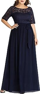 Ever-Pretty Womens Long Chiffon Simple Plus Size Evening Dress 7624-PZ