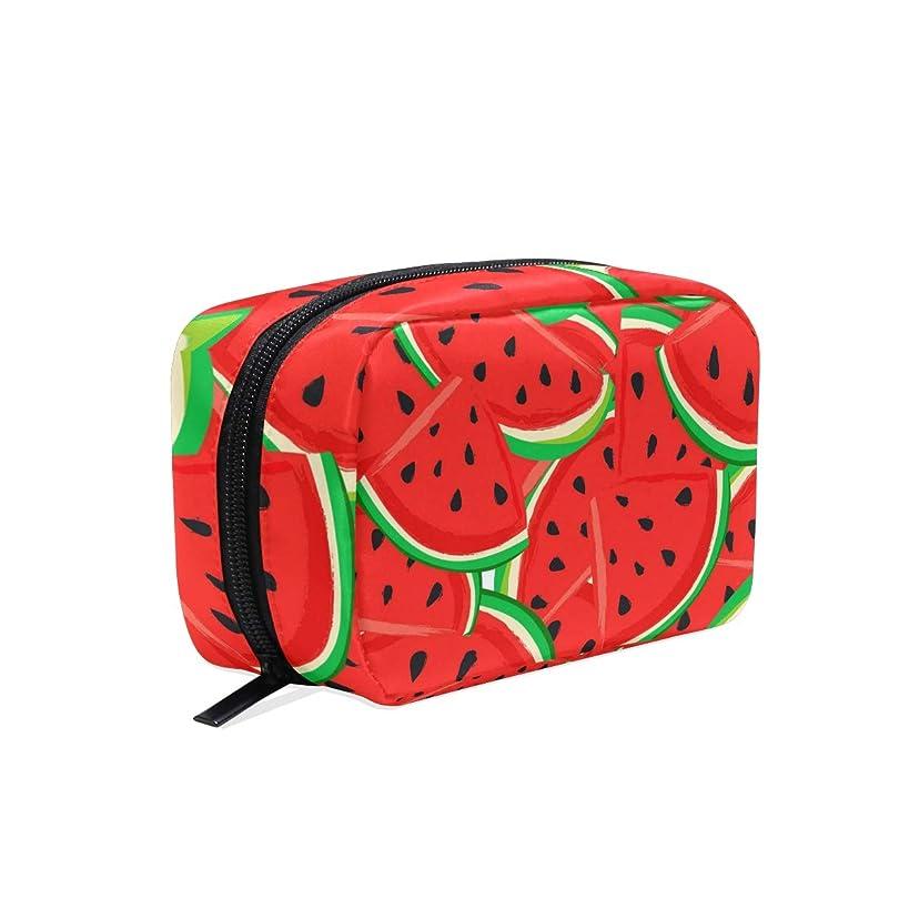 ドア月曜日反対UOOYA おしゃれ 化粧ポーチ スイカ フルーツ柄 Watermelon 軽量 持ち歩き メイクポーチ 人気 小物入れ 収納バッグ 通学 通勤 旅行用 プレゼント用