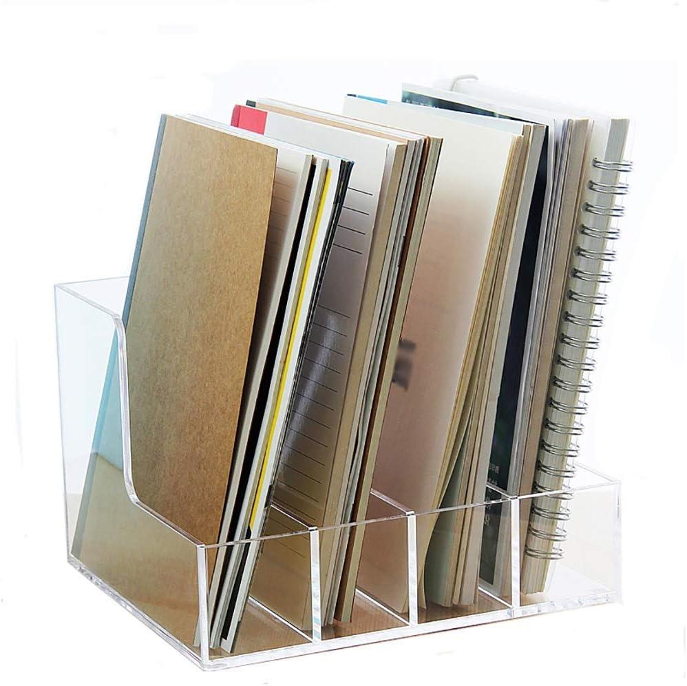 WLG Desk Storage Organizer Shelf Sale Max 40% OFF item Acrylic Office A5 File Transpar