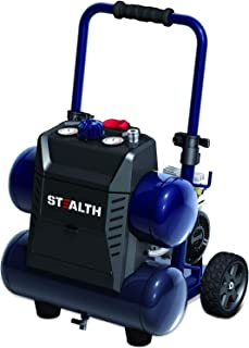 STEALTH Air Compressor, Ultra Quiet & Oil-Free 1.3 Hp 4.5 gallon Hot Dog Compressor, Blue- SAQ-1413