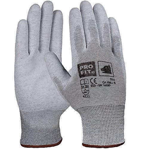 Pro Fit 12 Paar - ESD PU-Handschuh, Natur/weiß 8