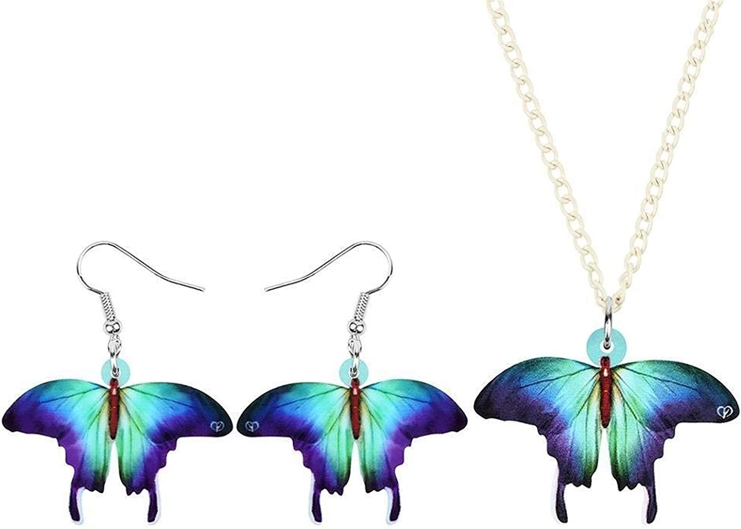 Necklace Acrylic Max 59% OFF Blue Jewelry Daily bargain sale Sets Animal for Earrings