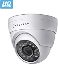 Amcrest Full HD 1080P 1920TVL Dome Outdoor Security Camera (Quadbrid 4-in1 HD-CVI/TVI/AHD/Analog), 2MP 1920x1080, 65ft Night Vision, Metal Housing, 2.8mm Lens 95° Viewing Angle, White (AF-2MDT-28W)
