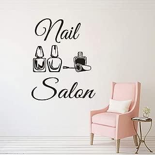 Quotes Art Decals Vinyl Removable Stickers Nail Salon Logo Beauty Salon Decoration Manicure Pedicure Window Poster Nails Polish