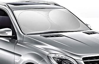 Ohuhu Windshield Sun Shade, Auto Car Sun Shade for Windshield Sunshade Sun Visor for Car Windshield Cover 65.7x36.4 Inches