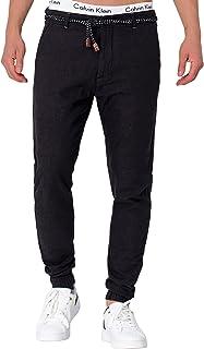Indicode Blnda - Pantaloni da uomo in 55% lino e 45% cotone con 4 tasche | lunghi Regular Fit Pantaloni estivi da uomo, in...