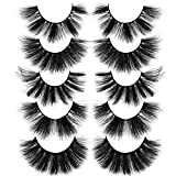 5 Variety Style Mink Eyelashes 15-20MM Mink Lashes Fluffy Soft Volume 3D Lashes with Reusable Portable Boxes 5 Pack