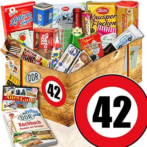 DDR Paket XXL + Zahl 42 + Geburtstags Geschenk Frauen + DDR Geschenkkorb