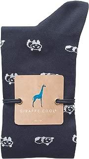Giraffe Cool Calcetín para Hombre de Color Azules Pandas